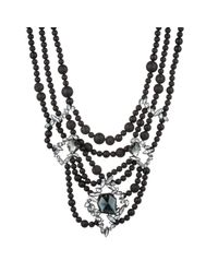 Alexis Bittar Liquid Crystal Lava Bead And Black Onyx Multi-strand Necklace You Might Also Like