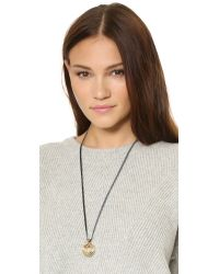 Sam Edelman - Metallic Multi Ring Pendant Necklace - Lyst