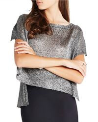 BCBGeneration | Metallic Split Back Sequined Top | Lyst