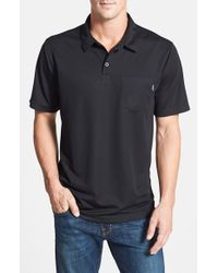 Jack O'neill | Black 'front 9' Moisture Wicking Golf Polo for Men | Lyst
