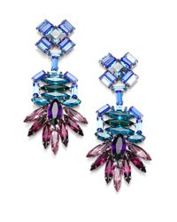DANNIJO | Multicolor Becker Crystal Drop Earrings | Lyst