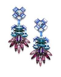 DANNIJO | Multicolor Becker Crystal Drop Earrings | Lyst