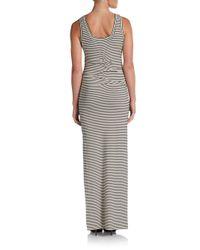 Nicole Miller Artelier - Black Striped Tank Maxi Dress - Lyst