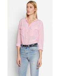 Equipment Pink Signature Silk Shirt