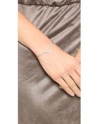 Elizabeth and James - Metallic Edo Bracelet - Gold/White Topaz - Lyst