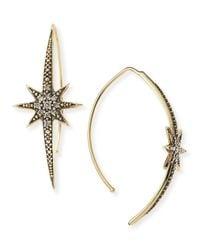 Mizuki   Metallic Small Icicle Star Earrings With Diamonds   Lyst