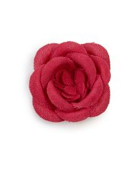 Hook + Albert | Pink Lapel Flower Pin | Lyst