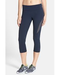 Zella | Blue 'live In - Optic' Slim Fit Capris | Lyst