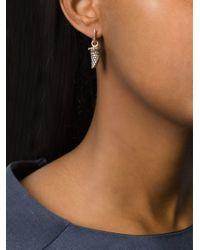 Monan | Metallic Diamond Tusk Shaped Earrings | Lyst