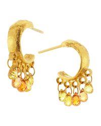 Gurhan - Metallic Sapphirebriolette Hoop Earrings - Lyst