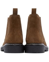 Alexander Wang Brown Tan Suede Lucas Chelsea Boots for men