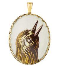 Annina Vogel | Metallic Gold Hermes Bird Locket | Lyst