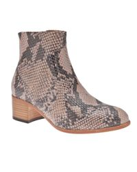 H by Hudson Brown Snake Ankle Boot