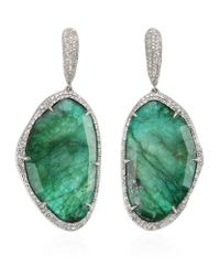 Monica Vinader | Green Gala Drop Earrings | Lyst