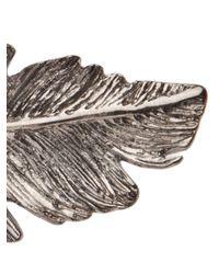 Pluie - Metallic Feather Hair Clip - Lyst