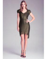 Bebe Black Scallop Lace Dress