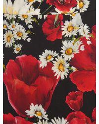 Dolce & Gabbana Red Printed Skirt