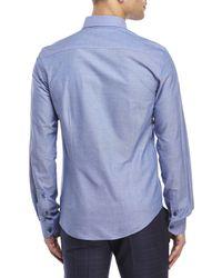 Moods Of Norway - Blue Arne Vik Pindot Sport Shirt for Men - Lyst