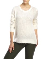 Olivaceous White Cross Back Sweater