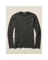 RRL - Black Striped Cotton Pocket T-shirt for Men - Lyst
