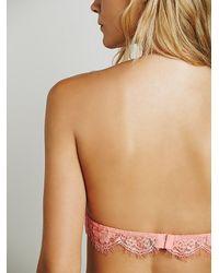 Free People - Pink Skinny Halter Bra - Lyst