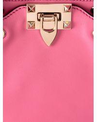 Valentino - Pink Rockstud Mini Cross-Body Bag - Lyst