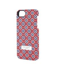 Ted Baker - Red Multi Geo Iphone 5/5S Case for Men - Lyst