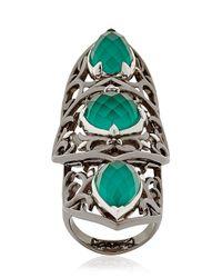 Stephen Webster | Green Crystal Haze Knuckle Ring | Lyst