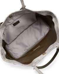 Furla | Gray Gemini Python Embossed Leather Shoppertote Bag Rocciagin | Lyst