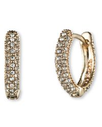 Judith Jack | Metallic Marcasite And Crystal Huggie Earrings | Lyst