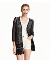 H&M | Black Lace Cardigan | Lyst