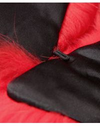 Yves Salomon Purple Tipped Fur Collar