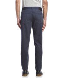 Perry Ellis - Blue Low-Rise Slim Fit Straight Leg Pants for Men - Lyst