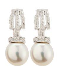 Belpearl | White Granulatedbale South Sea Pearl Earrings | Lyst