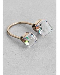 & Other Stories | Multicolor Diamond Open Ring | Lyst