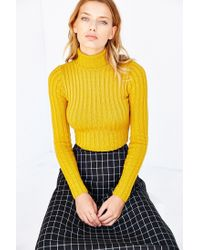 Silence + Noise | Yellow Cassie Turtleneck Sweater | Lyst