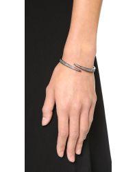 Michael Kors | Metallic Pave Matchstick Hinge Bangle Bracelet - Gunmetal/black | Lyst