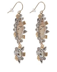 Alexis Bittar | Metallic Asymmetrical Jasper Crystal Drop Earrings | Lyst