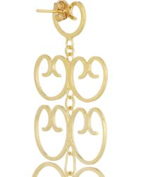Mallarino - Metallic Mercedes Gold-plated Filigree Earrings - Lyst