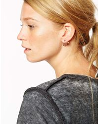 ASOS - Pink Triple Triangle Swing Earrings - Lyst