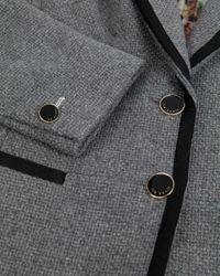 Ted Baker Gray Nariana Embellished Collar Blazer