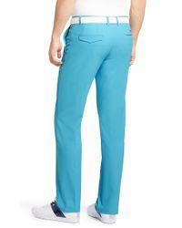 BOSS Green Blue 'hakan'   Slim Fit, Coolmax Performance Golf Pants for men