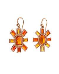 Irene Neuwirth - Metallic Diamond, Fire-Opal & Rose-Gold Earrings - Lyst