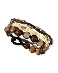 Tai | Brown Set Of Three Cord Bracelets | Lyst