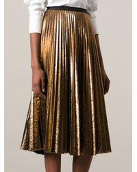 Pleated Gold Skirt