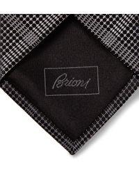 Brioni - Gray Geometric Silk Tie for Men - Lyst