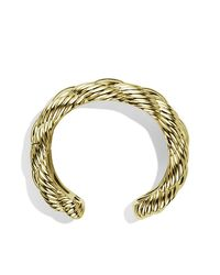 David Yurman | Yellow Large Woven Cable Cuff | Lyst