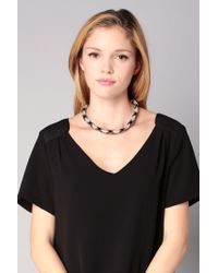 Sessun | Black Necklace / Longcollar | Lyst