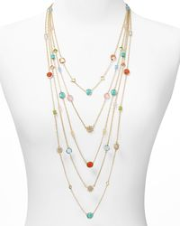 Lauren by Ralph Lauren - Metallic Lauren Five Row Multi Bead Drama Necklace 38 - Lyst