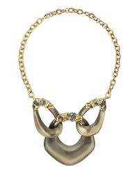 Alexis Bittar - Metallic Crystal Georgian Lace Lucite Link Necklace - Lyst